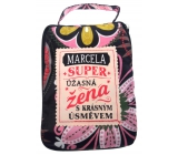 Albi Foldable handbag zip with name Marcela 42 x 41 x 11 cm