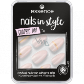 Essence Nails In Style artificial nails 09 Graphic Art 12 pieces