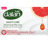 Dalan Multi Care Pink Grapefruit & Caring Milk Toilet Soap 90 g