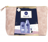 Nivea Smooth Care body lotion 400 ml + shower gel 250 ml + antiperspirant roll-on 50 ml + case, cosmetic set for women