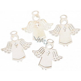 Angel wooden white 3.5 cm 12 pieces