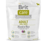 Brit Care Adult Lamb + rice super premium food for adult dogs of small breeds 1 kg