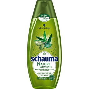 Schauma Nature Moments Mediterranean Olive Oil and Aloe Vera Regenerating Anti-Fingering Hair Shampoo 250 ml