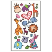 Tattoo prints of colorful children's pet 15 x 8,5 cm