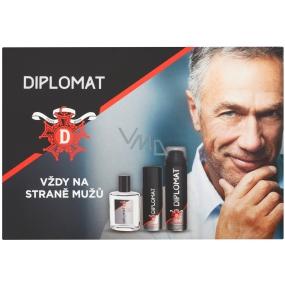 Astrid Diplomat Classic aftershave for men 100 ml + shaving foam 250 ml + deodorant spray 150 ml, cosmetic set