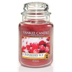Yankee Candle Cranberry Ice scented candle Classic large glass 623 g