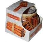 Add Cinnamon decorative aromatic candle in glass 80 g