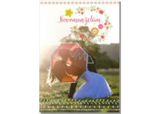Albi Greeting Card - Honeymooners with Umbrella
