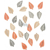 Natural leaves of natural color 2 cm, 24 pcs 4002 8470