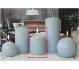 Lima Ice pastel candle light blue cylinder 80 x 100 mm
