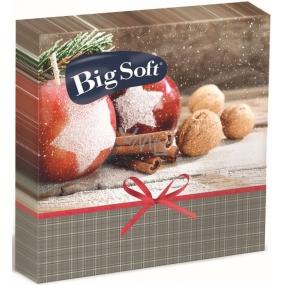 Big Soft Paper napkins 2 ply 33 x 33 cm 20 pieces Christmas Apples, cinnamon, nuts