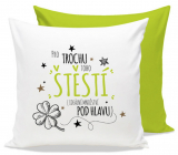 Nekupto Gift Center Pillow with dedication For happiness 30 x 30 cm