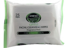 Athena Beauté Gentle Facial Cleansing Wipes Moisturizing Facial Wipes 25 pieces