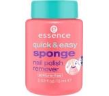 Essence Quick & Easy Sponge Nail Polish Remover odlakovač na nehty 75 ml