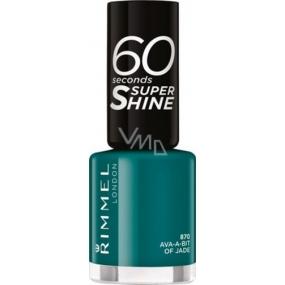 Rimmel London 60 Seconds Super Shine Nail Polish lak na nehty 870 Ava-a-bit Of Jade 8 ml