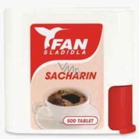 Fan Sacharin Artificial sweetener 500 tablets in 30 g dispenser