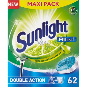 Sunlight All in 1 Lemon dishwasher tablets 62 pieces