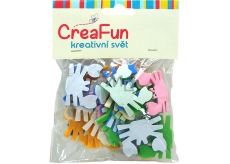 CreaFun Self-adhesive decoration Crab mix of colors 4 x 3 cm 25 pieces