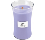 WoodWick candle glass large Lavender Spa 4923