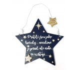 Nekupto Christmas wooden decoration in the shape of stars Friends are like stars ... 14 x 14 cm