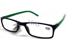 Berkeley Optical Frames +1.0 Plastic Black Green Side 1 Piece MC2 ER4045
