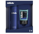 Gillette Sensitive Skin shaving gel for men 200 ml + aftershave 75 ml cosmetic set for men