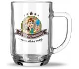 Nekupto Hobby beer glass The best gardener 500 ml