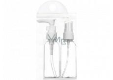 Travel set of 75 ml spray bottles and 75 ml dispenser in plastic bag, 303