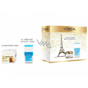 Loreal Paris Age Specialist 65+ day anti-wrinkle cream 50 ml + two-phase make-up remover for eyes and lips 125 ml, cosmetic set