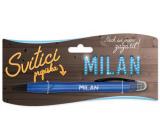 Nekupto Glowing pen named Milan, touch tool controller 15 cm