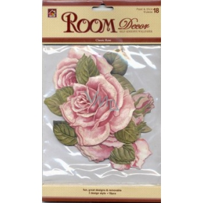 Room decoration self-adhesive Rose 18 pieces