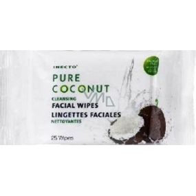 Inecto Pure Coconut cleansing face wipes 25 pieces
