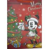 Nekupto Dárková papírová taška největší 46 x 33 x 10,5 cm Mickey Mouse vánoční 1191 WLGX