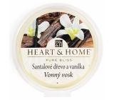 Heart & Home Santalové dřevo a vanilka Sojový přírodní vonný vosk 27 g