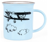 Albi Ceramic cane Airplane blue 320 ml