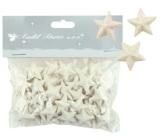 Hvězdičky s glitry 50 ks bílá, 2 cm