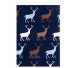 Ditipo Gift wrapping paper 70 x 200 cm Christmas dark purple with reindeer