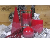 Lima Artic Candle Red Prism 65 x 120 mm 1 Piece