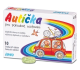 Favea Toy cars for relaxed travel, to suppress nausea, food supplement with sweeteners 10 chewable tablets