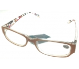 Eyeglasses + 1 orange brown sides with rectangles MC2084