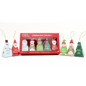Česky Tea Shop Bio Christmas tree Ginger and cranberry + Chocolate, rooibos, vanilla + Apple, rosehip and cinnamon + White tea, coconut and passion fruit + White tea with tropical fruit gift box, 10 pyramids, 5 flavors, 5 Christmas figurines to hang on sapling, gift set