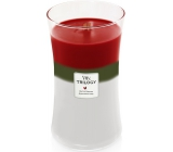 WoodWick Trilogy Winter Garland - Winter garland scented candle with wooden wick and lid glass large 609 g
