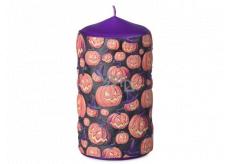 Emocio Angry Pumpkin candle purple cylinder 60 x 110 mm