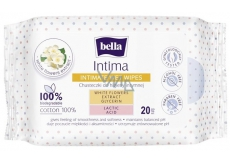 Bella Intima Extract of white flowers cotton wipes for intimate hygiene 20 pieces