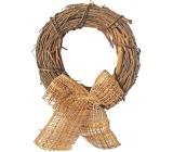 Wicker wreath with ribbon 22 cm