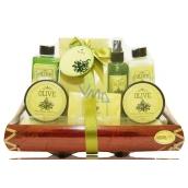 Raphael Rosalee Cosmetics Oliva shower gel 190 ml + body lotion 190 ml + body spray 100 ml + body scrub 50 ml + body cream 50 ml + bath salt 200 g + toilet soap 100 g, cosmetic set