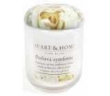 Heart & Home Pearl Symphony Soy scented candle medium burns up to 30 hours 110 g