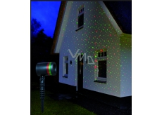 Annas Collection LED laser 4x funkce obloha - pohyblivý, červená/zelená