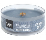 WoodWick Evening Onyx - Evening onyx scented candle with wooden wick petite 31 g