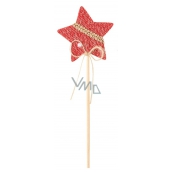 Star knitted red groove 6 cm + skewers